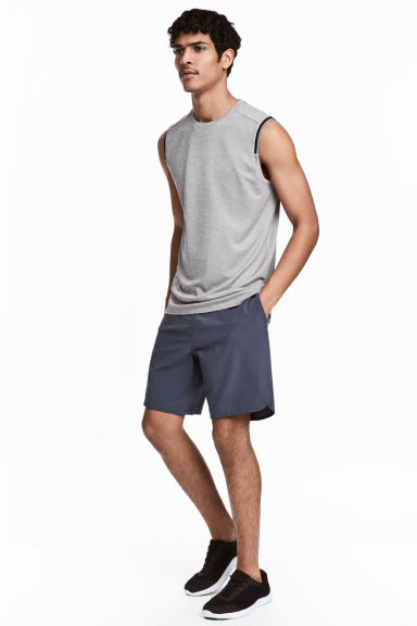 Sports shorts - Dark grey-blue - Men | H&M CN 1