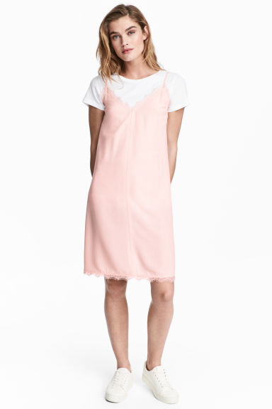 Slip-on dress - Powder pink - Ladies | H&M CN 1