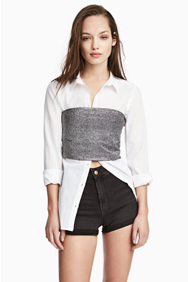 Shorts High waist - Dark grey denim - Ladies | H&M CA 1