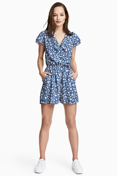 Playsuit - Blue/Floral -  | H&M 1