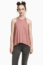 Ribbed jersey sleeveless top - Vintage pink - Ladies | H&M 1