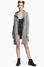 Sweatshirt cardigan - Grey marl - Ladies | H&M 1