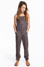 Patterned jumpsuit - Dark grey/Floral - Kids | H&M 1