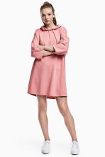Hooded sweatshirt dress - Pink - Ladies | H&M 1