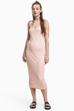 Ribbed dress - Powder - Ladies | H&M 1