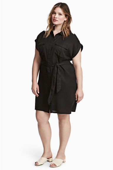 H&M+ Cargo dress - Black - Ladies | H&M 1