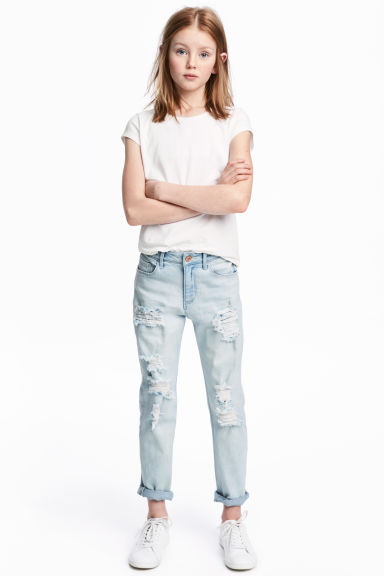 Relaxed Worn Jeans - Light denim blue - Kids | H&M 1