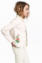 Embroidered denim jacket - White - Kids | H&M 1
