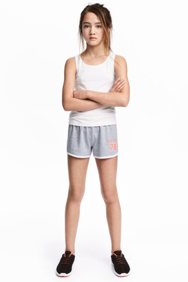Sports shorts - Grey marl - Kids | H&M