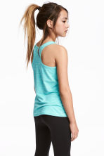 Sports vest top - Turquoise marl - Kids | H&M CN 1