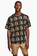 Patterned T-shirt - Black/Palms - Men | H&M 1