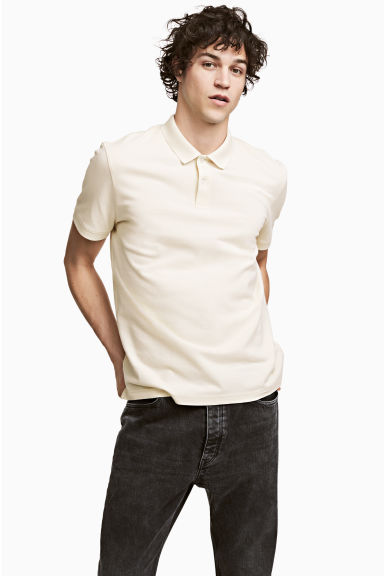 Polo shirt - Natural white - Men | H&M 1