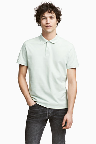 Polo shirt - Mint green - Men | H&M IE 1