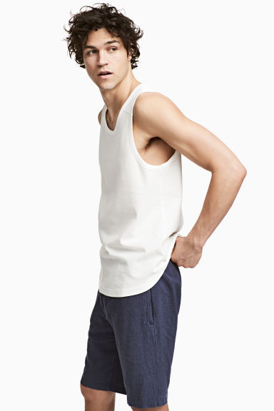 Vest top - White - Men | H&M 1
