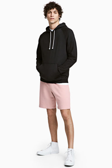Knee-length sweatshirt shorts - Dusky pink - Men | H&M