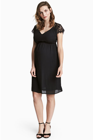 MAMA V-neck dress - Black - Ladies | H&M 1