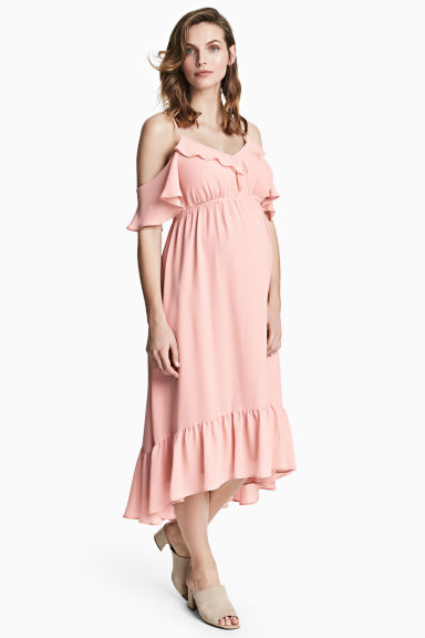 MAMA Chiffon dress - Powder pink - Ladies | H&M IE