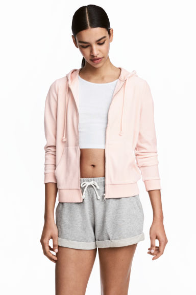 Hooded velour jacket - Powder - Ladies | H&M CN 1