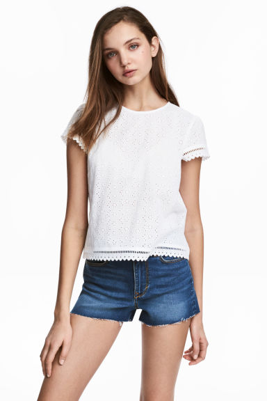 Denim shorts - Denim blue - Ladies | H&M 1