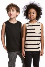 2-pack tops - Light beige/Striped - Kids | H&M CA 1