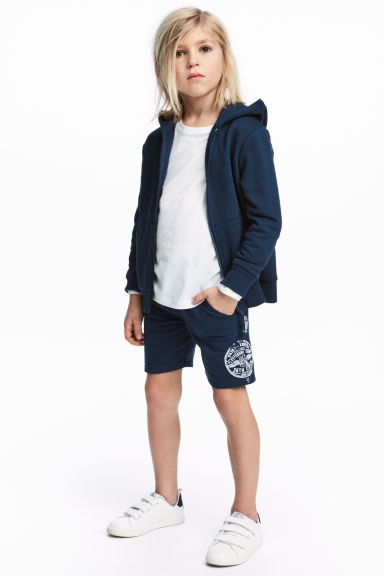 Jersey shorts - Dark blue -  | H&M 1