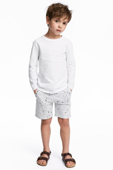 Jersey shorts - Light grey marl - Kids | H&M CN 1