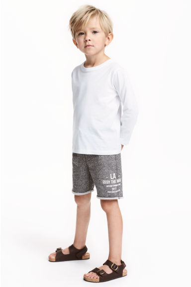 Sweatshirt shorts - Black marl -  | H&M IE 1