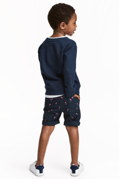 Cotton shorts - Dark blue/Flamingo -  | H&M CN 1