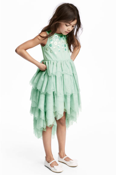 Tulle dress - Mint green -  | H&M 1