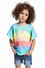 Printed top - Multicoloured - Kids | H&M 1
