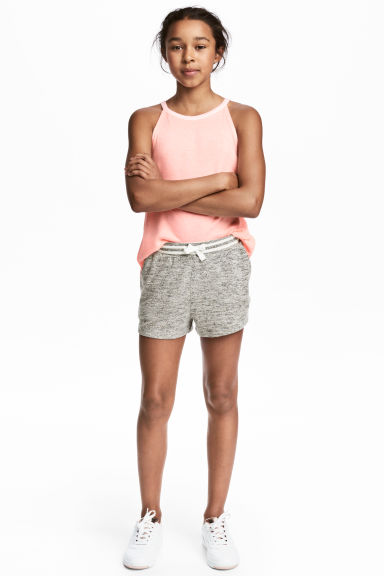 Marled shorts - Grey marl - Kids | H&M CN 1