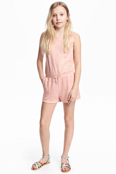 Glittery playsuit - Powder pink marl -  | H&M 1