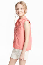 Sleeveless blouse - Coral pink - Kids | H&M 1