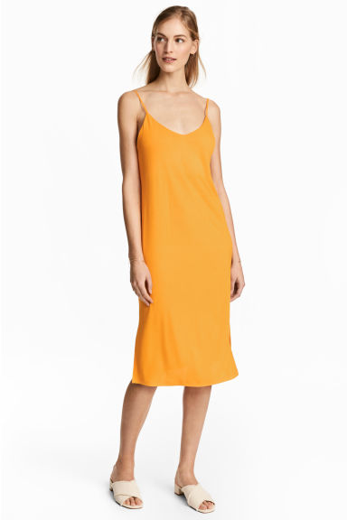 Knee-length jersey dress - Yellow -  | H&M CN 1