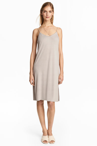 Knee-length jersey dress - Light grey - Ladies | H&M 1