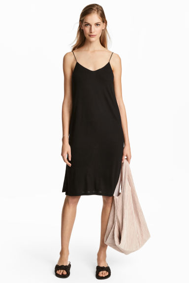 Knee-length jersey dress - Black - Ladies | H&M 1