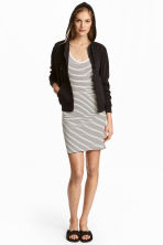 Jersey dress - Natural white/Striped -  | H&M CA 1