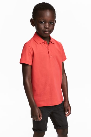 Polo shirt - Coral red - Kids | H&M CN 1