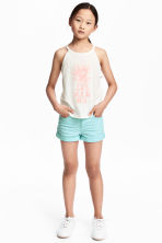 Twill shorts - Mint green - Kids | H&M CN 1