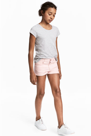 Twill shorts - Light pink - Kids | H&M CN 1