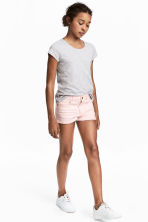 Twill shorts - Light pink - Kids | H&M 1