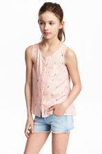 Sleeveless top - Light pink/Ice cream -  | H&M 1