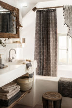Tappetino da bagno fantasia - Antracite/bianco naturale - HOME | H&M IT 1