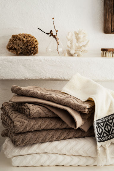 Jacquard-patterned hand towel - Mole - Home All | H&M CN 1