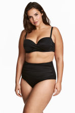 H&M+ Draped bikini bottoms - Black - Ladies | H&M CA 1