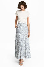 Gonna lunga in seta - Bianco/fantasia -  | H&M IT 1