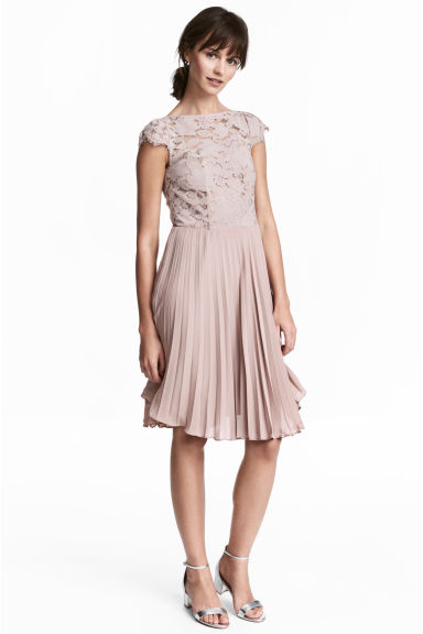 Pleated dress - Powder pink - Ladies | H&M CA 1