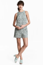 Lace playsuit - Dusky green - Ladies | H&M 1