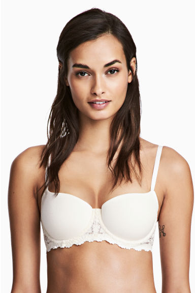 Push-up balconette bra - Natural white - Ladies | H&M 1