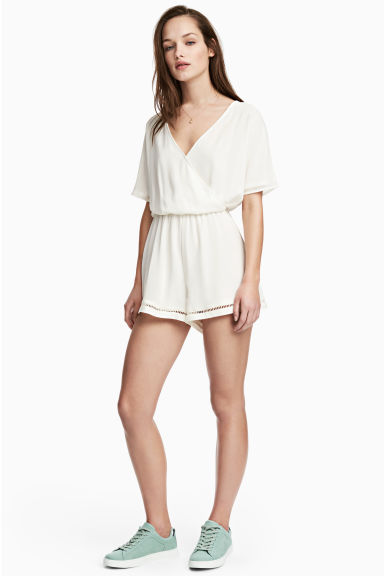 Playsuit - White -  | H&M IE